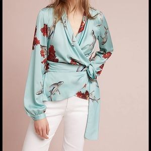 Anthropologie Patbo Fish Wrap Blouse Small 🌟